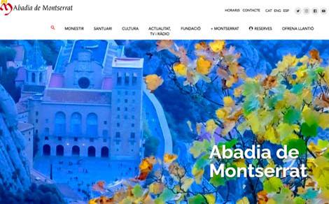 Web dell'Abbazia di Montserrat
