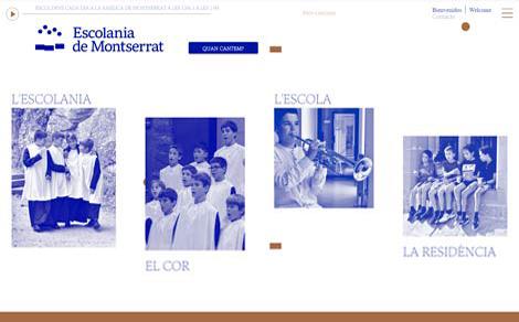 Web dell'Escolania di Montserrat