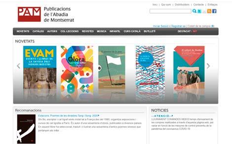 Web della casa editrice Pubblicazioni dell'Abbazia