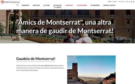 Web degli Amici di Montserrat